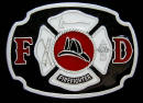 Colored Fire Department Belt Buckle