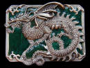 Colored Midiaevil European Dragon Belt Buckle