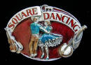 Colored Square Dancing BElt Buckle