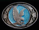 Colored Western Eagle Belt Buckle