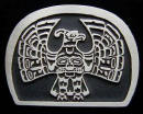 Sand Cast Bronze Kwakiutl Eagle Belt Buckle