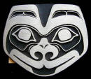 Sand Cast Bronze Tlingit Wolf Belt Buckle
