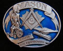 Colored Masonic Belt Buckle