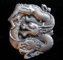 Serpentlike Chinese Dragon Belt Buckle