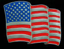 Colored American Flag Belt Buckle