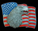 Eagle And Flag Belt Buckle